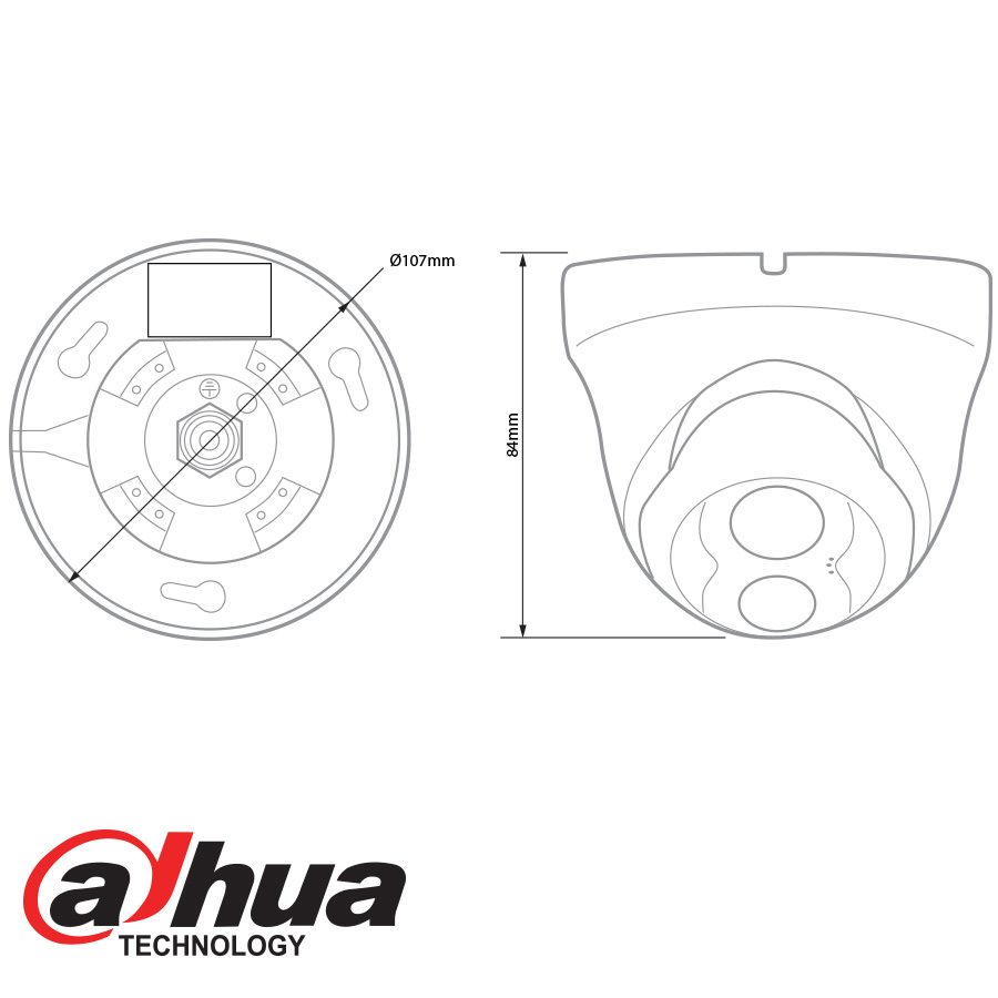 dahua ip 1 3mp single ir dome camera - 3 6mm lens